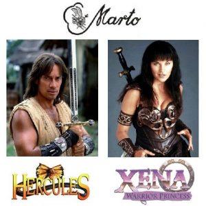 Replicas Xena y Hércules